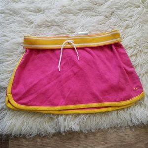 Nike Pink & Yellow Active Skirt